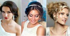 Модные свадебные прически на каре – с удлинением, челкой, цветами, диадемой, фатой
