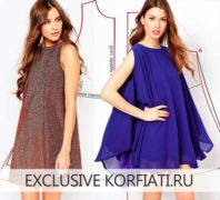 Выкройка свободного платья от А. Корфиати