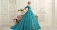 Свадебные платья Нави Блю: по-разному скроены, одинаково элегантны