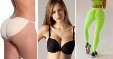 Эффект пуш-ап в одежде – белье и купальники, трусы и бюстгалтер, легинсы и джинсы, колготки и шорты push up