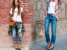 Тренды 2016-2017 джинсы бофренды и джинсы с завышеной талией
