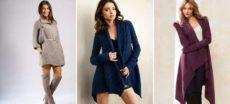 Модные женские вязаные кардиганы – длинные модели с капюшоном, без рукавов, ажурные и крупной вязки