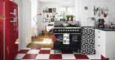 Цвет кухни сочетание цветов: черный, красный и белый в интерьере кухни